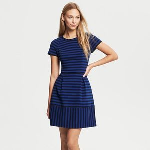 Blue Striped Banana Republic Dress